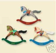 Hallmark Ornaments 2007 Rocking Horse Set of 3 Miniature