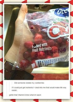 Who Would Do This To My Cranberries?