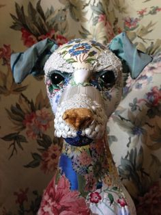 patternprints journal: PATTERNS AND PRINTS INTO SURREAL AND ROMANTICS ANIMALS MADE WITH FABRIC BY BYRONY ROSE JENNINGS