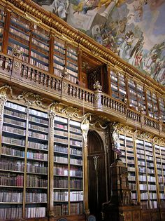 The Philosophical Hall at the Library of Strahov Monastery, Prague, Czech Republic by Jassy-50. Wander the wood