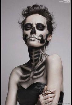maquiagem esqueleto - Pesquisa Google