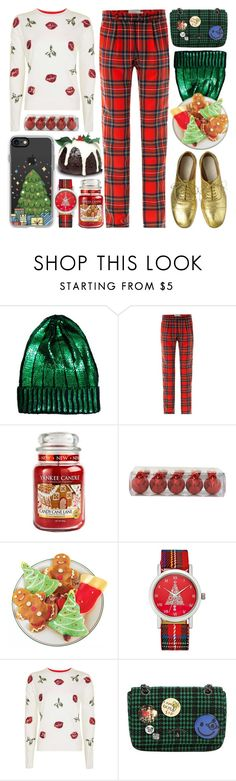 """""""Christmas"""" by barbarela11 on Polyvore featuring ASOS, Preen, Maison Margiela, Yankee Candle, Charter Club, Topshop, Vivienne Westwood and Casetify"""