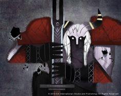 Dragon Age Fresco: Qunari by nthornborrow.deviantart.com on @deviantART
