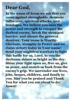 Prayer for Spiritual Warfare