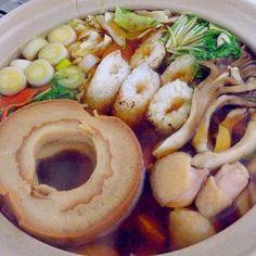 きりたんぽも手作り❤️車麩を入れ、比内地鶏のスープを使い本格的に❗️ - 39件のもぐもぐ - きりたんぽ鍋 by accachan096Y1