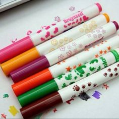 Stamp markers omg how funny! i used to own some of these forever ago. They were so cool!