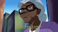 Even the mundanes are bursting with snark! This little old lady knows what's up. | 22 Times The Justice League Proved Their Superpower Is Sass