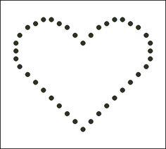 Free Candlewicking Patterns : Small Heart Candlewicking Pattern - Printable Beginner's Candlewicking Chart