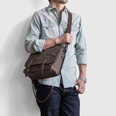 AIYAMAYA Retro Style Canvas Bag Shoulders Men And Women Backpack Wear Shoulder Bag