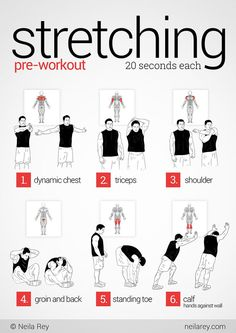 pre-workout stretching. arm stretches