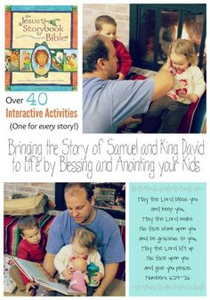 Bringing The Story Of King David Samuel To Life By Anointing And Blessing Your Kids