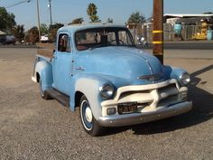 In Dinuba people are still driving unrestored old trucks like this.