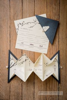 Origami Wedding Invitation / http://www.himisspuff.com/origami-wedding-ideas/7/