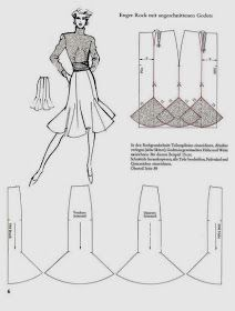 Trendy Skirt Pattern Godet Vintage Ideas Best Picture For red Skirt For Your Taste You are looking for something, and it is going to tell you exactly what you are looking for, and you didn't fi Skirt Patterns Sewing, Barbie Patterns, Clothing Patterns, Coat Patterns, Blouse Patterns, Skirt Pattern Free, Pattern Sewing, Barbie Clothes, Sewing Clothes