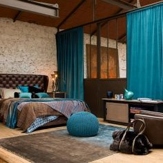 This color scheme might work for the living room...dark brown furniture, light walls, and teal distressed built-ins