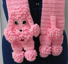 Pink Poodle Scarf Crochet Pattern  by DonnasCrochetDesigns on Etsy https://www.etsy.com/listing/211627844/pink-poodle-scarf-crochet-pattern