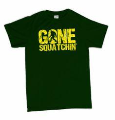 Funny Sasquatch Bigfoot Hunter T-Shirt