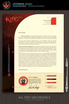 Letterhead  Stationery Printing Letterhead Template And Print