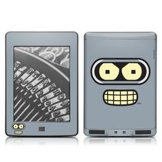 DecalGirl Kindle Touch Skin - Futurama: Bender Face (does not fit Kindle Paperwhite) by DecalGirl. Save 50 Off!. $7.49. DecalGirl skins for Kindle Fire feature distinct artwork printed in vibrant color onto premium adhesive-backed cast vinyl that is then sealed with a special sating/matte protective coating to reduce glare and prevent fingerprints. 100% MADE IN THE USA.