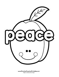 Fruits of the Spirit Bible Coloring Pages - Christian Preschool Printables Sunday School Coloring Pages, Preschool Coloring Pages, Bible Coloring Pages, Peace Crafts, Healthy Fruit Desserts, Fruit Recipes, Christian Preschool, Fruit Logo, Fruits Drawing