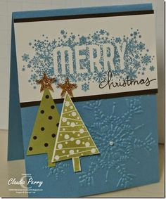 Stampin' Up!, Seasonally Scattered, Festival of Trees, Stamp-a-Stack