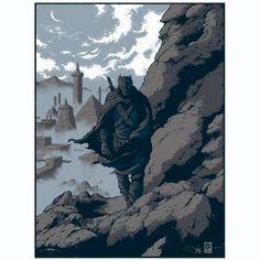 Batman: Iron Age. Official DC Batman 75 screen print. By Arik Roper.  http://www.frenchpaperartclub.com/en/one-year-of-batman/385-arik-roper-iron-age-batman-limited-edition-screenprint.html