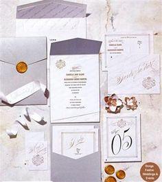 Parisian Wedding Invitations, Stationery & Accents