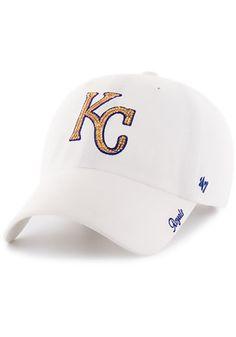 '47 Kansas City Royals White Sparkle Adjustable Hat