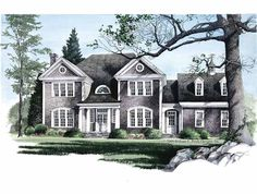 Eplans Colonial House Plan - Hamptons - 3783 Square Feet and 5 Bedrooms from Eplans - House Plan Code HWEPL08596