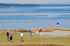 #USOpen practice round at Chambers Bay