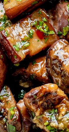 Grilled Eggplant in Sweet Chili Garlic Sauce Recipe - Let the Baking Begin! Eggplant Zucchini, Grilled Eggplant, Grilled Zucchini, Chinese Eggplant Recipes, Fried Eggplant Recipes, Grilled Vegetable Salads, Vegetable Recipes, Recipes With Chili Garlic Sauce, Grilling Recipes