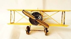 Zenness Vintage Airplane Model Wrought Iron Aircraft Handicraft Souvenir 819 Yellow, http://www.amazon.com/dp/B00IXD8PGM/ref=cm_sw_r_pi_awdm_vmlRub0DVK1S6