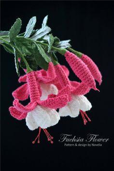 Crochet Flower Pattern Fuchsia Flower Crochet Pattern Crochet