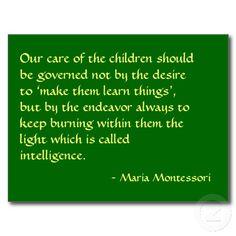 Maria Montessori Quotes | Maria Montessori Quote No. 1 Post Card | Zazzle.co.uk