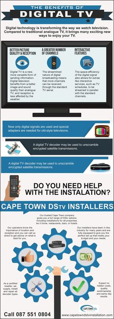 With everything going on around, you need to get information in real time. Whether you are an avid news watcher, football fanatic or you simply have to know the latest fashion trends in the world. Then you simply have to get the DSTV system installed at your place of residence and even where you work. For a full range of the services that we offer don't hesitate to visit our website at http://www.capetowndstvinstallation.com/