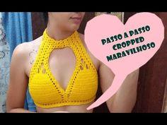 Fabulous Crochet a Little Black Crochet Dress Ideas. Georgeous Crochet a Little Black Crochet Dress Ideas. Bikinis Crochet, Crochet Bra, Crochet Bikini Pattern, Crochet Halter Tops, Crochet Shirt, Crochet Crop Top, Crochet Woman, Crochet Clothes, Crochet Bodycon Dresses