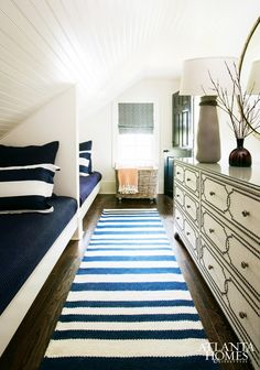 Narrow Guest Bedroom With Twin Beds