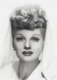 Lucille Ball pencil drawing