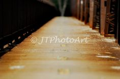 Title: Worn By: JTPhotoArt   Description: Iron oxide stains the concrete pathway over on a bridge over a rail yard giving it a well-worn appearance., $28