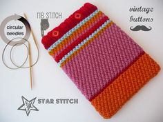 ipad cozy in star stitch
