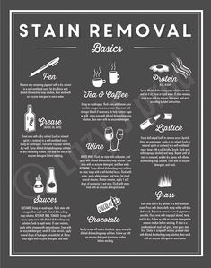 Stain Removal Basics print Instant download Laundry room | Etsy Deep Cleaning Tips, Household Cleaning Tips, Toilet Cleaning, House Cleaning Tips, Diy Cleaning Products, Cleaning Solutions, Cleaning Hacks, Spring Cleaning Schedules, Cleaning Room