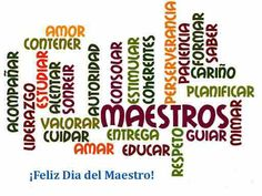 día del maestro - Buscar con Google Teacher Cards, Teacher Quotes, Teachers Day Gifts, Teacher Gifts, Greetings Images, Special Quotes, Teachers' Day, Collage Design, School Decorations