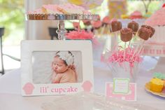 Lil Cupcake Frame I'm One Picture Frame by MaxandEmsPartyShoppe