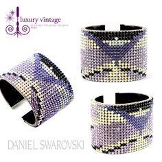 Daniel Swarovski Bangle White/Purple/Black Colour Very Good Condition Ref.code-(KYUE-5)