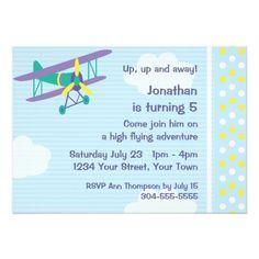 Customizable Airplane Birthday Party Invite