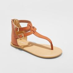 b857e7c8332 Girls  Jackie Thong Sandals - Cat   Jack Cognac ...