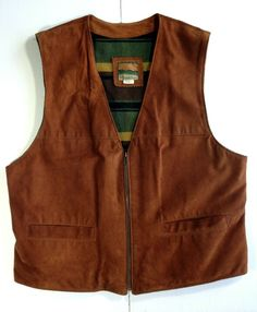 Men's Suede Winter Vest Zipper Wool Lining Mouton Rare ships from Canada - Large Leather Vest, Suede Leather, Western Vest, Motorcycle Vest, Rugged Look, Mens Fleece, Shearling Jacket, Men's Shirts, Ships