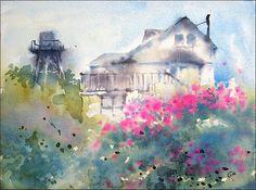 Mendocino   Watercolors by Maria Stezhko (Акварели Марии Стежко)