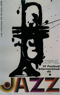 Almost thought this was a Rorschach-inspired design... San Sebastian's Jazz Festival poster 1971