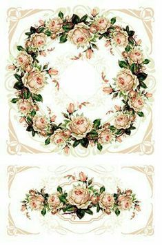 Decoupage Vintage, Decoupage Paper, Vintage Type, Vintage Photos, Flower Frame, Flower Art, Decoupage Printables, Illustration Blume, Birthday Frames